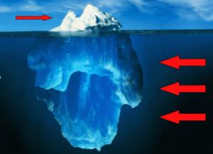 ijsberg onderstroom